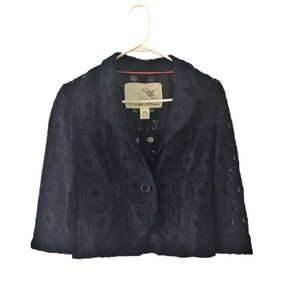 Anthropologie Tabitha Lace Embroidered Jacket 4
